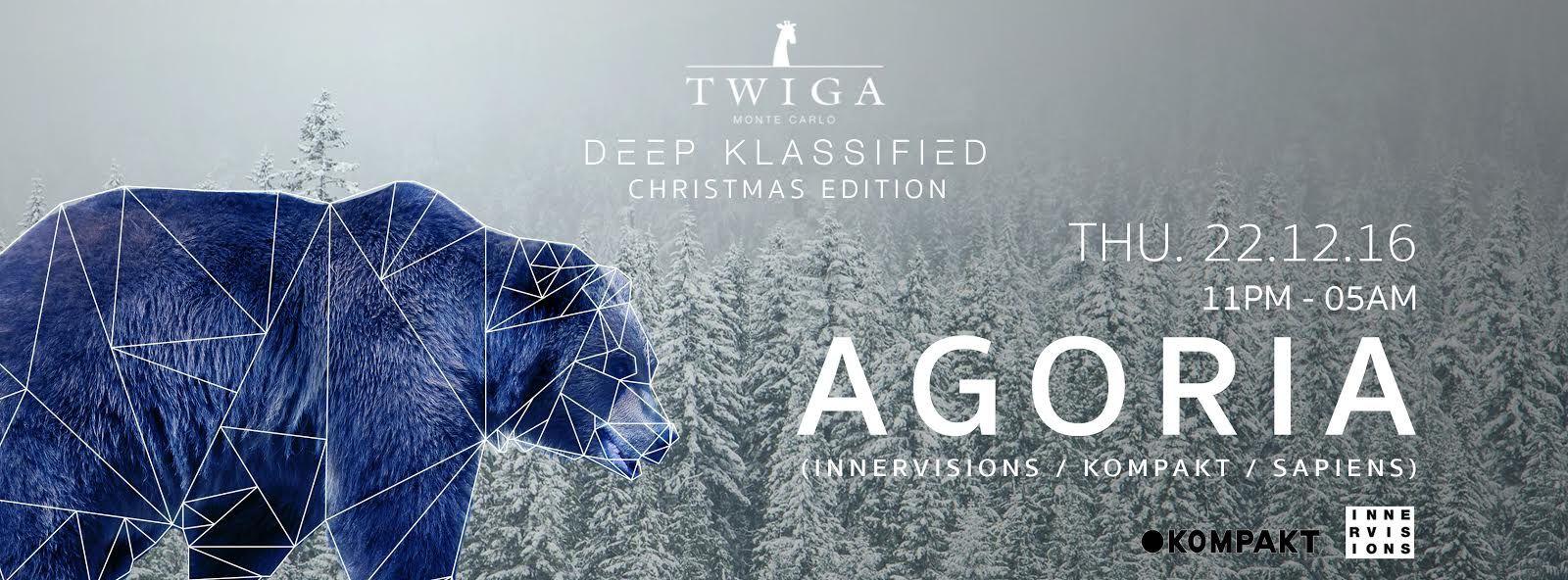Deep Klassified Christmas Edition  Monaco avec AGORIA 23h-5h , jkeudi 22 décembre