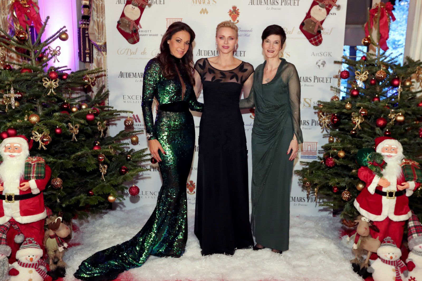 Sandrine Knoell-Garbagnati/dress Ali Karoui, H.S.H Princess Charlène,  Agnès Falco, General Secretary of the Princess Charlene of Monaco Foundation ©LaurentCialvadini