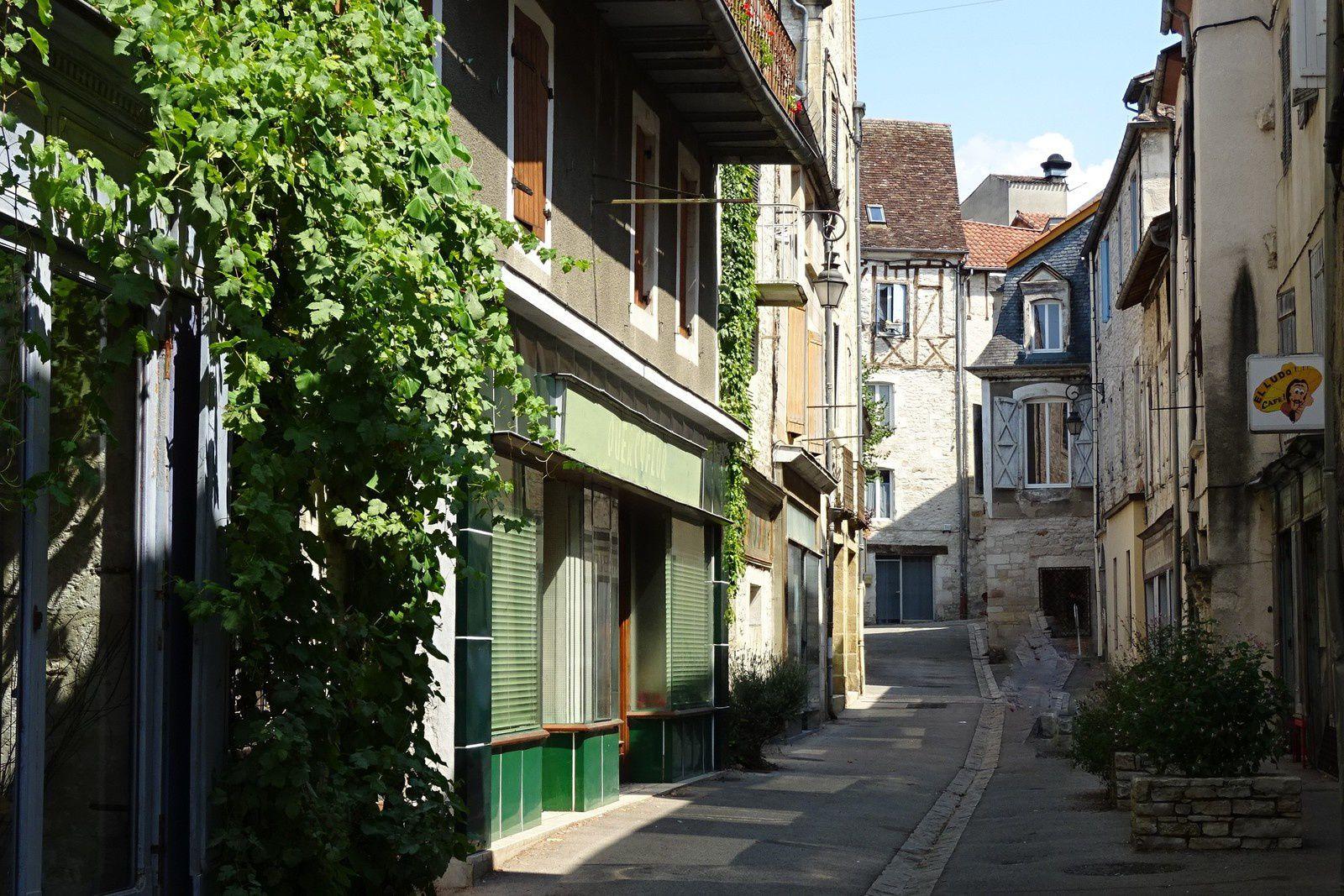 Rue piétonne de Souillac.