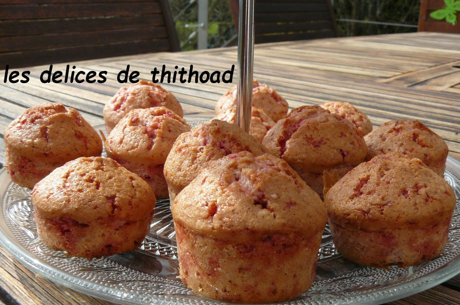 muffins aux pralines roses