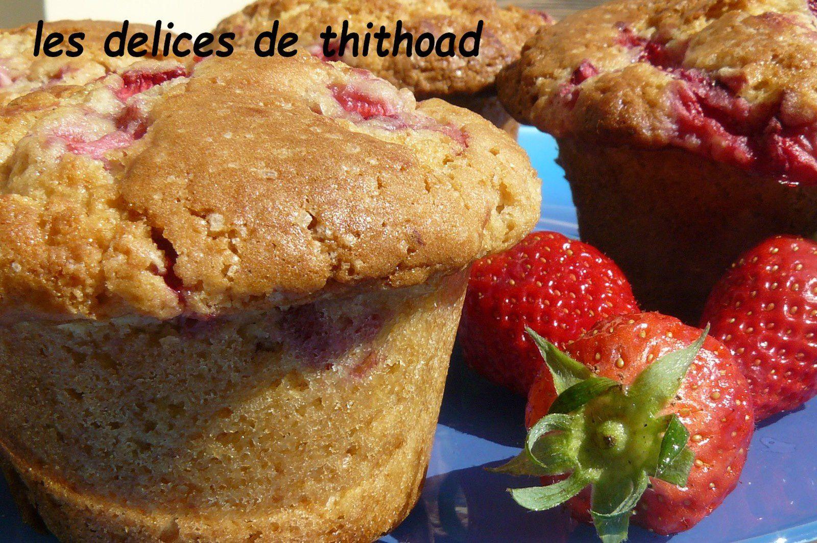 Enormes muffins aux fraises