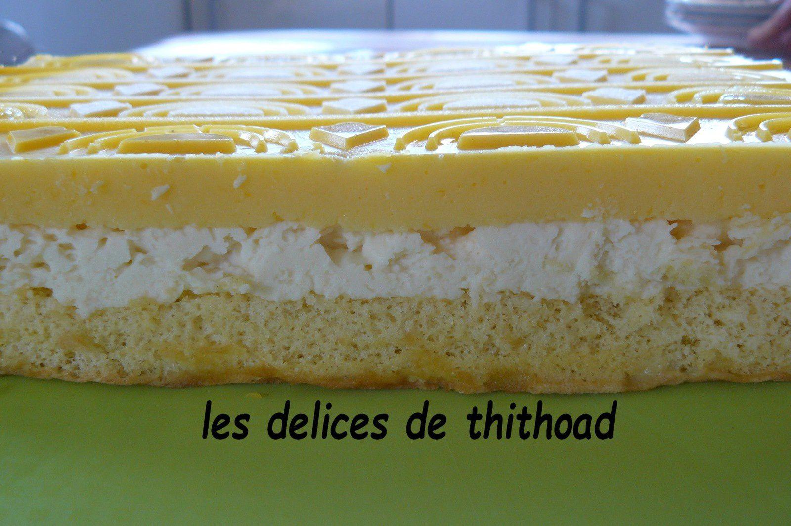 Entremet citron chocolat blanc pour la Fête des Mères