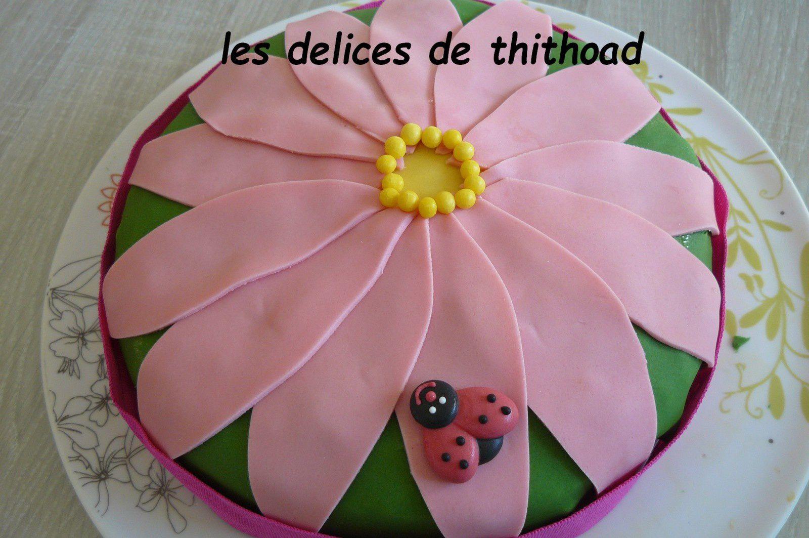 Gâteau d'anniversaire pour les 10 ans d'Adèle