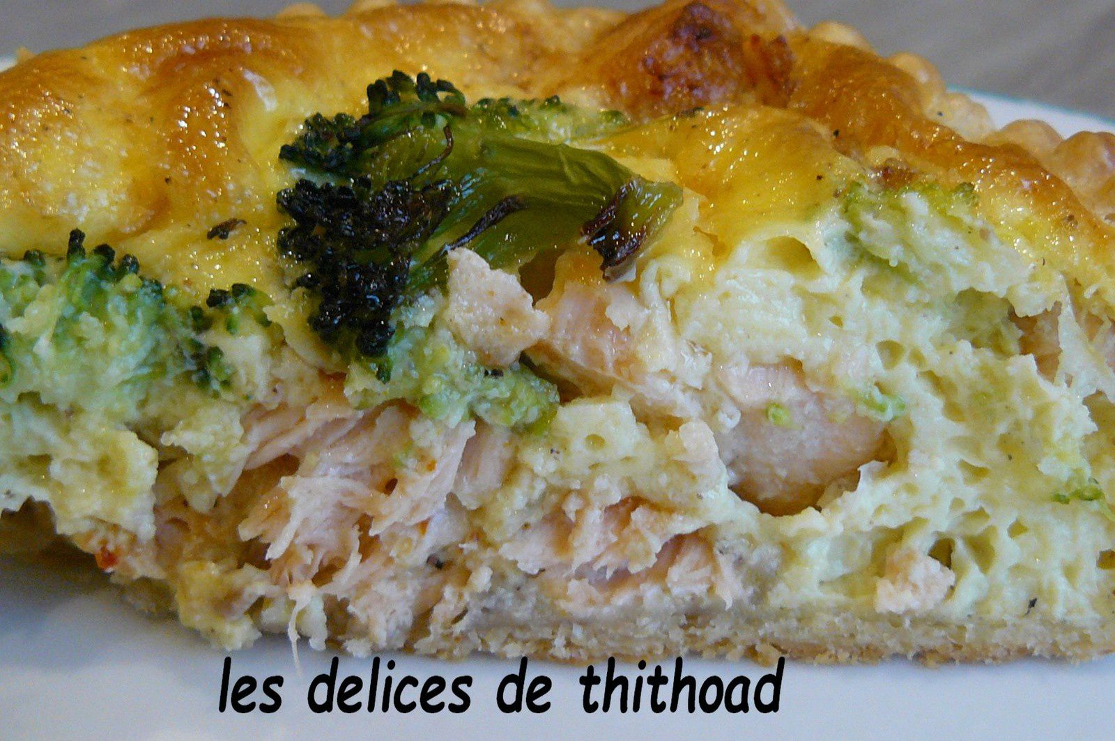 quiche de saumon et brocolis