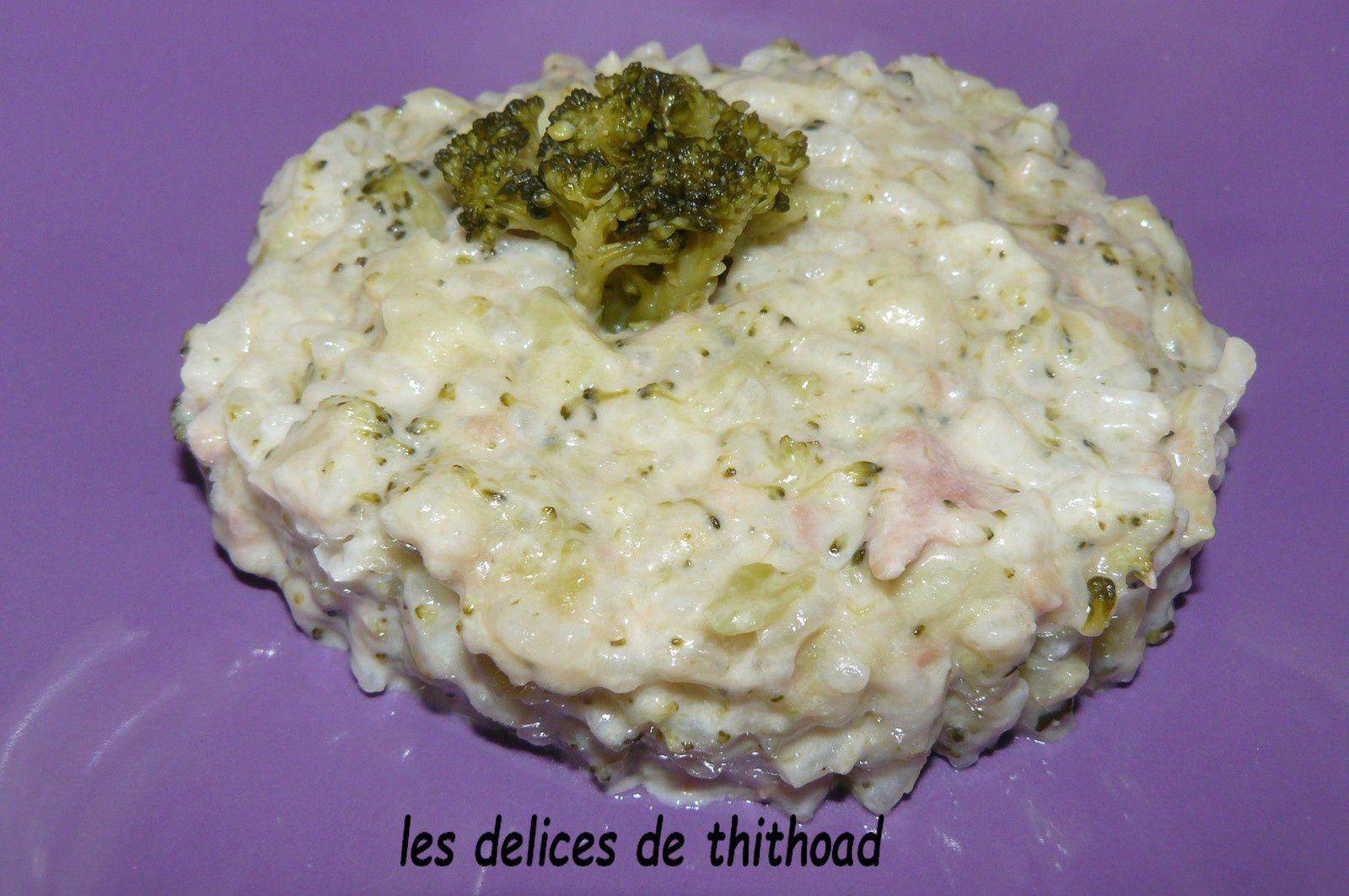 risotto aux brocolis et au thon au I COOKIN