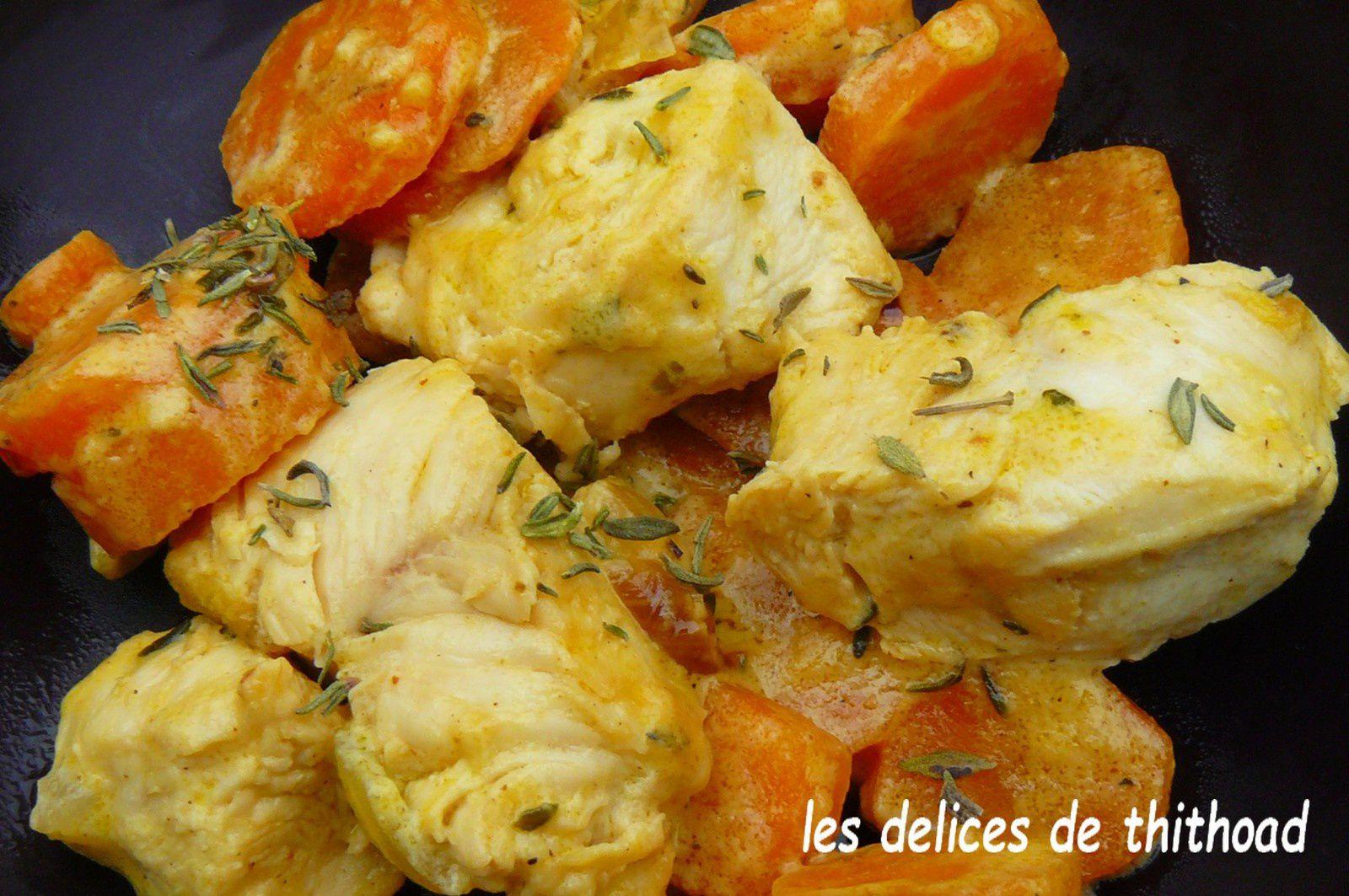 sauté de poulet aux carottes (escapade en cuisine)