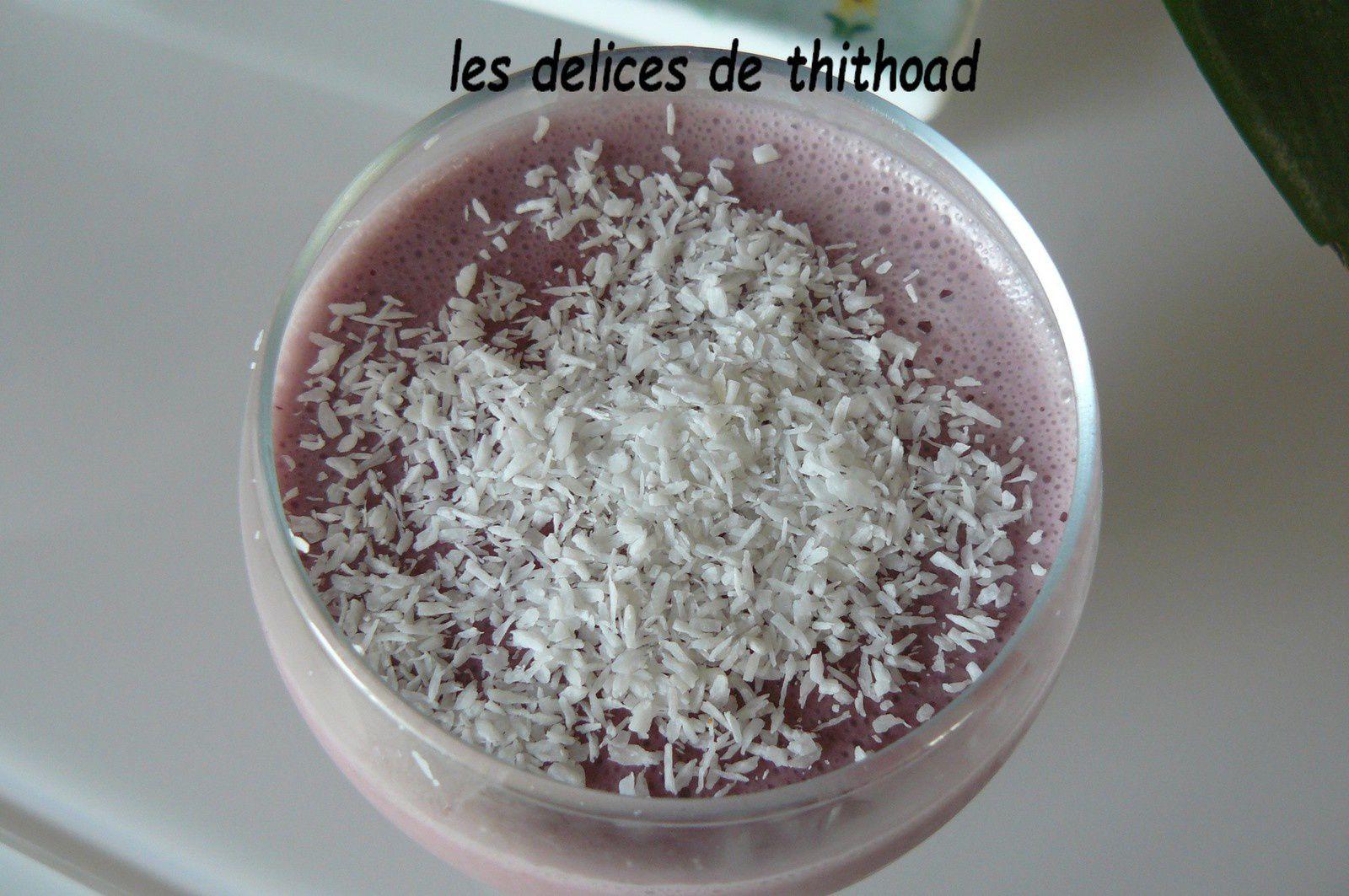 flans de coco aromatisés à la framboise
