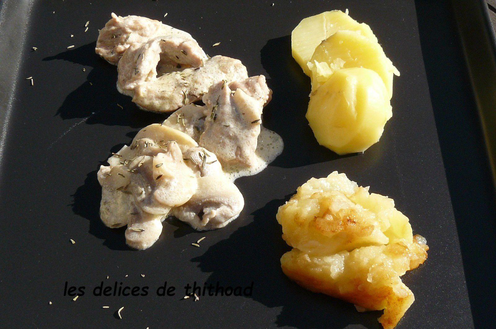Emincé de veau pommes et Calvados