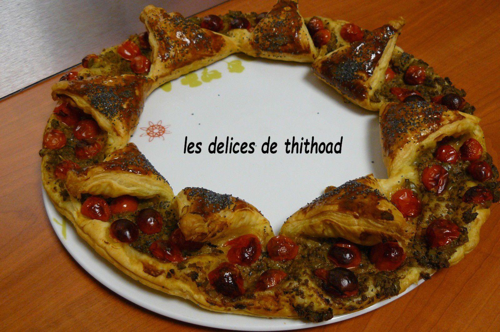tarte couronne à la tapenade d'olives vertes