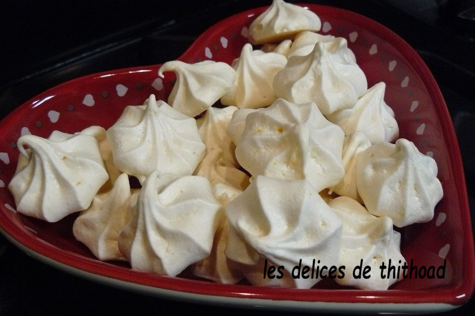 Meringues goût orange