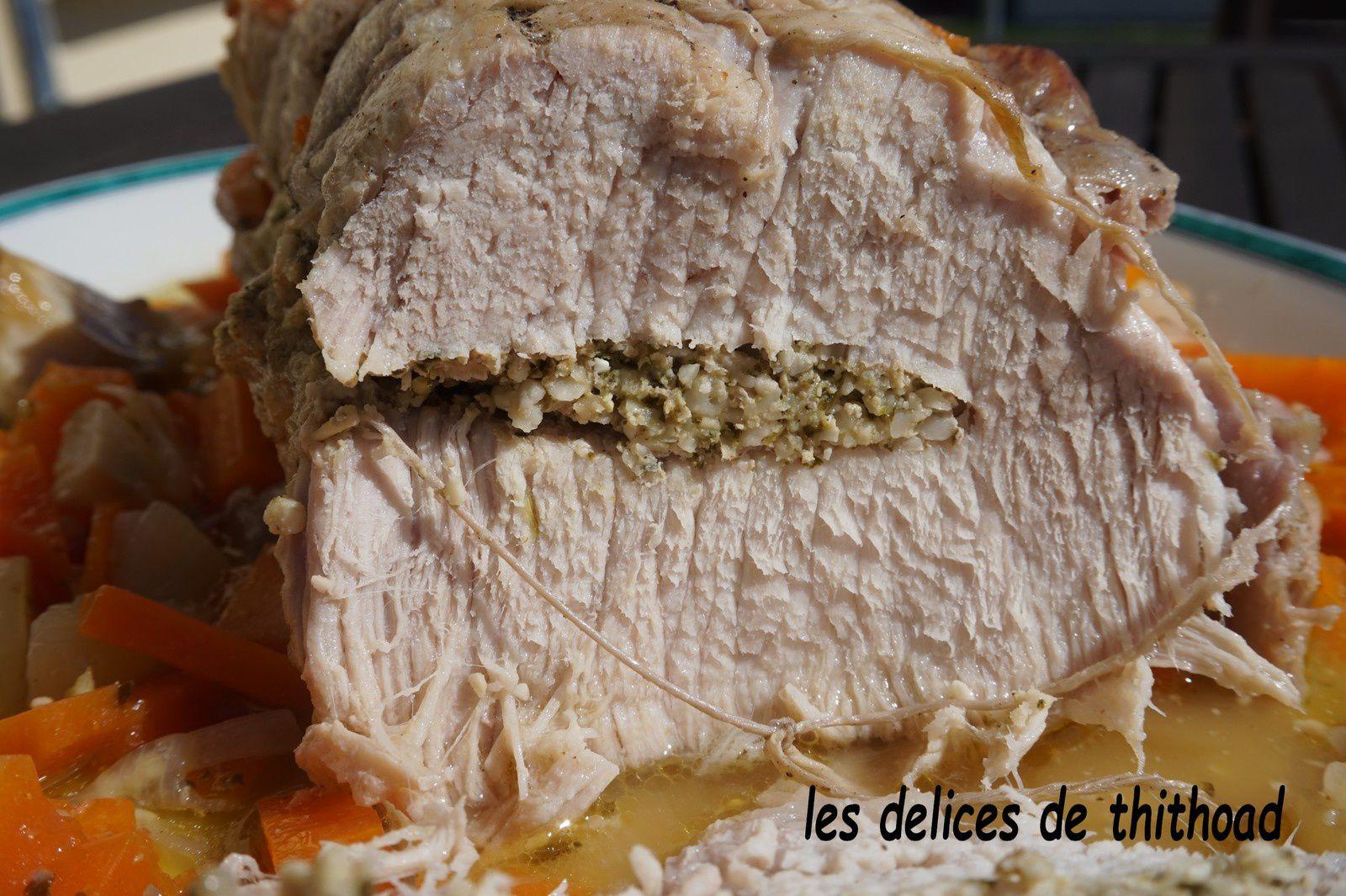 filet de porc farci au pesto d'herbes