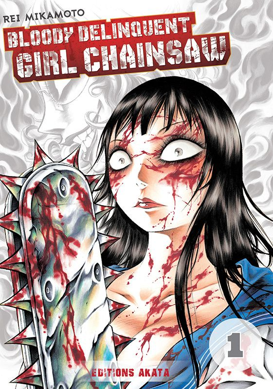 Bloody Delinquent Girl Chainsaw range sa tronçonneuse