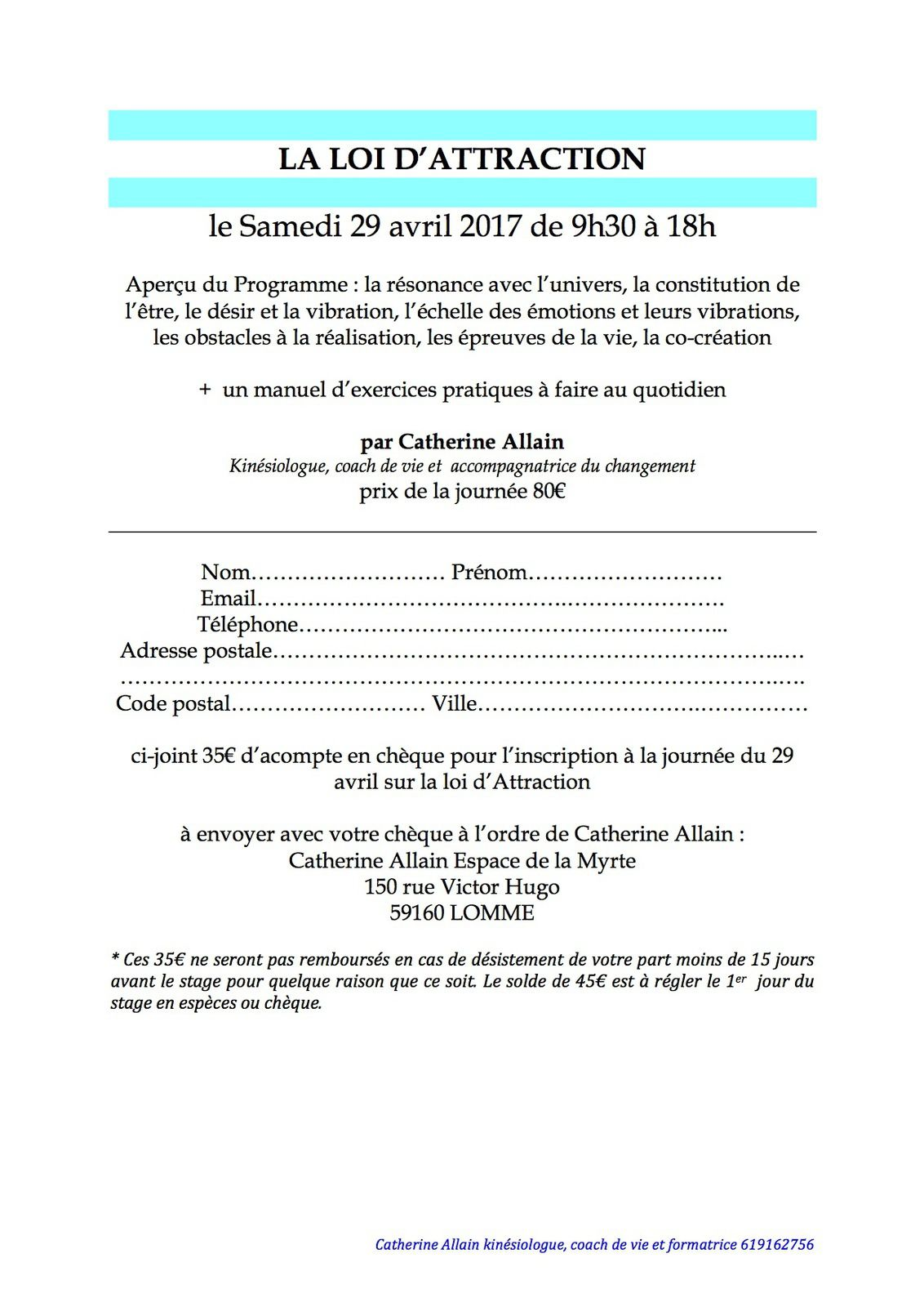 loi d'attraction 29 avril 2017