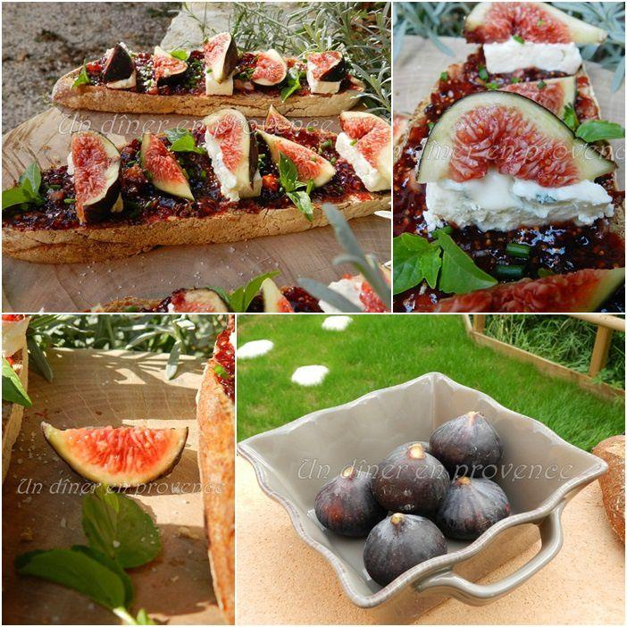 Tartines aux figues de Solliès &amp&#x3B; gorgonzola / mascarpone crémeux