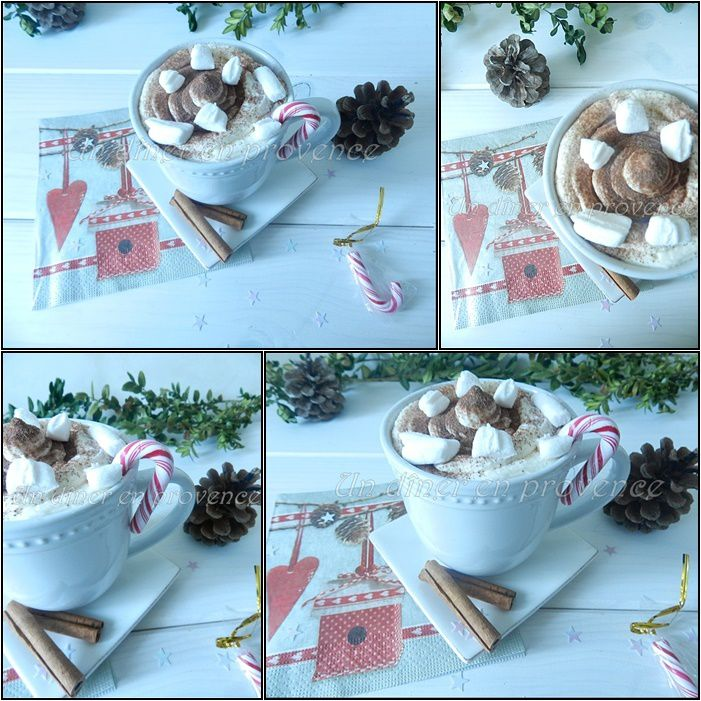 Chocolat chaud guimauve et chantilly