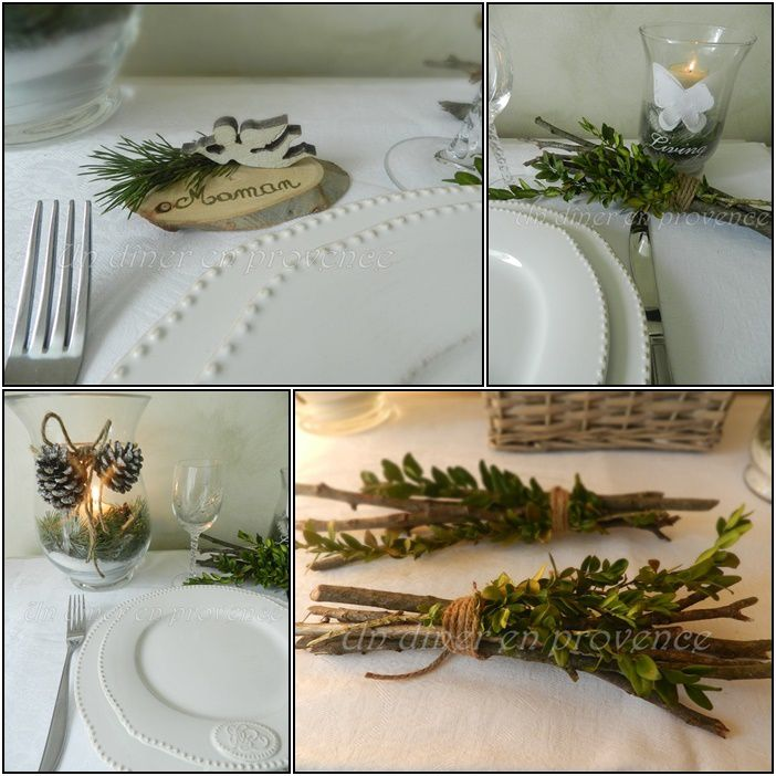 Decoration de table pour noel nature - Decorations de table pour noel ...