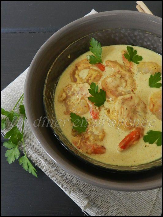 curry de crevettes au lait de coco de cyril lignac un d ner en provence. Black Bedroom Furniture Sets. Home Design Ideas