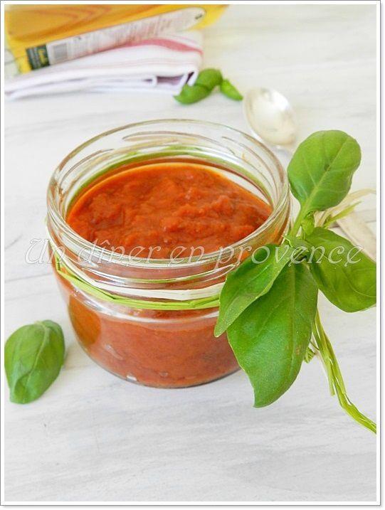 Sauce tomates cerises et basilic