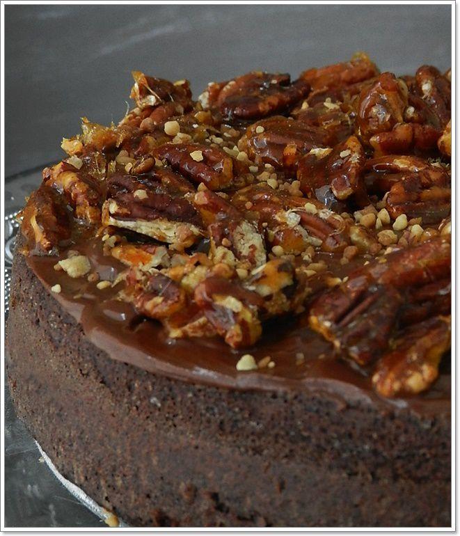Gâteau chocolat &amp&#x3B; noix de pécan