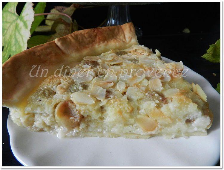 Tarte aux raisins blancs et crème d'amande