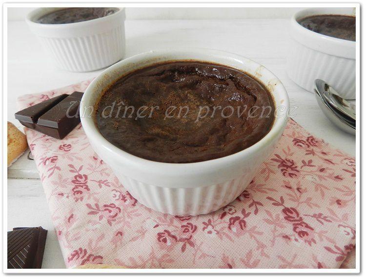 Flan aux oeufs au chocolat noir