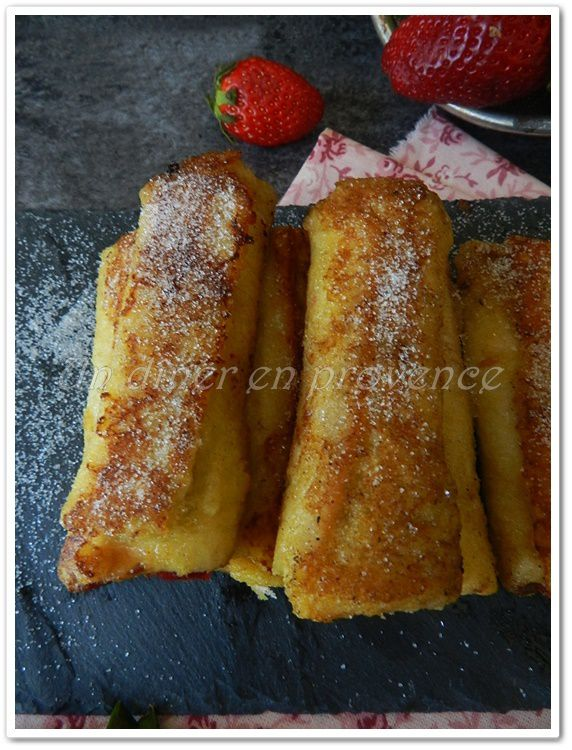 pain perdu roul fraise nutella french toast roll ups. Black Bedroom Furniture Sets. Home Design Ideas