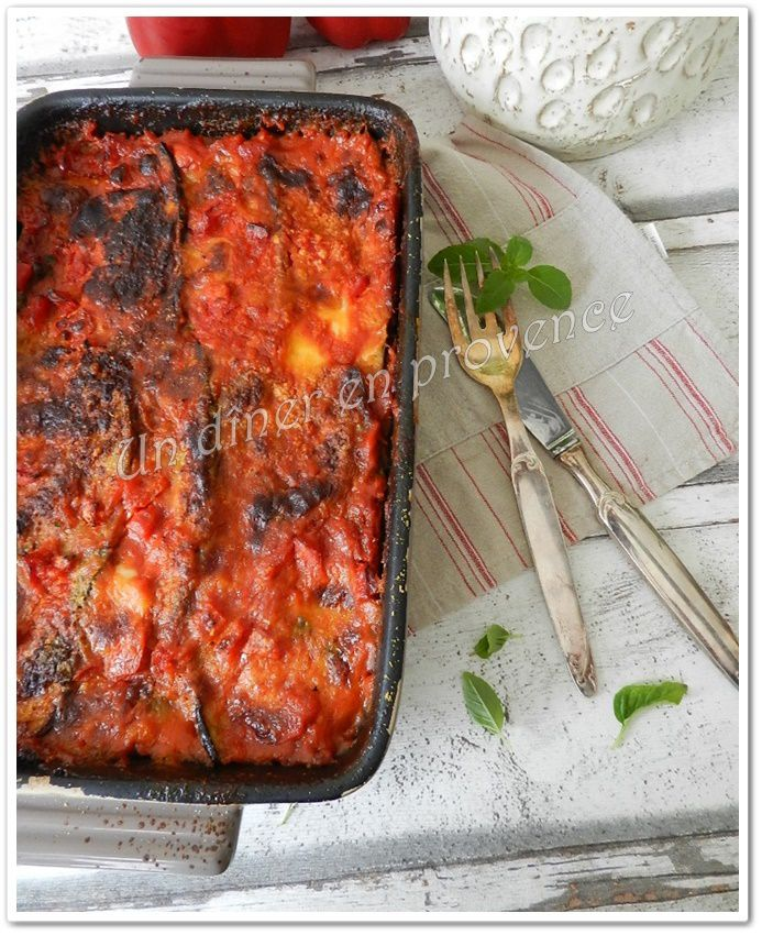 Parmigiana d'aubergines (sans viande)