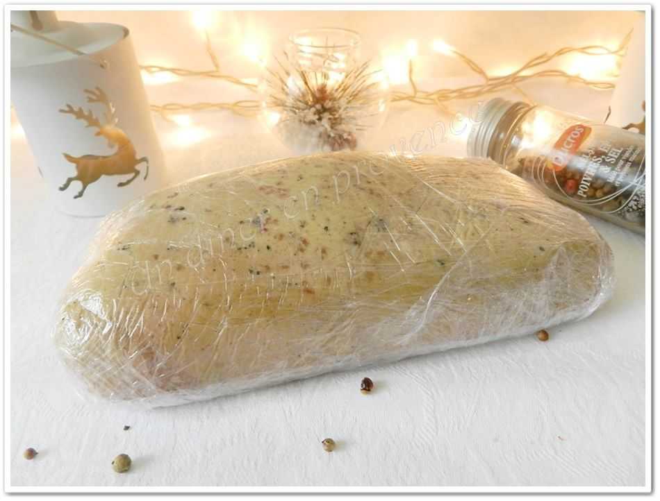 Foie gras au Calvados au torchon