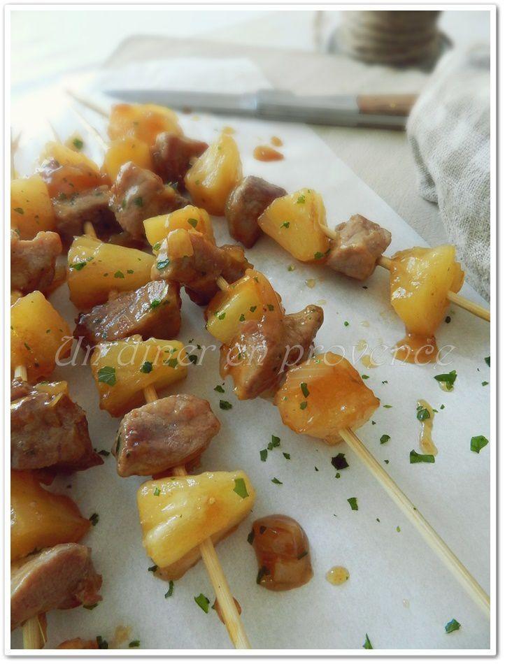 Porc à l'ananas au caramel