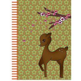 """Cahier de rêverie """"Bambi"""", 8.00€ et Coffret 6 crayons papier So chic, 9.50€, le tout dans la boutique des petits papiers à Nantes ou sur la boutique en ligne: www.papeterie-lesptitspapiers.fr"""