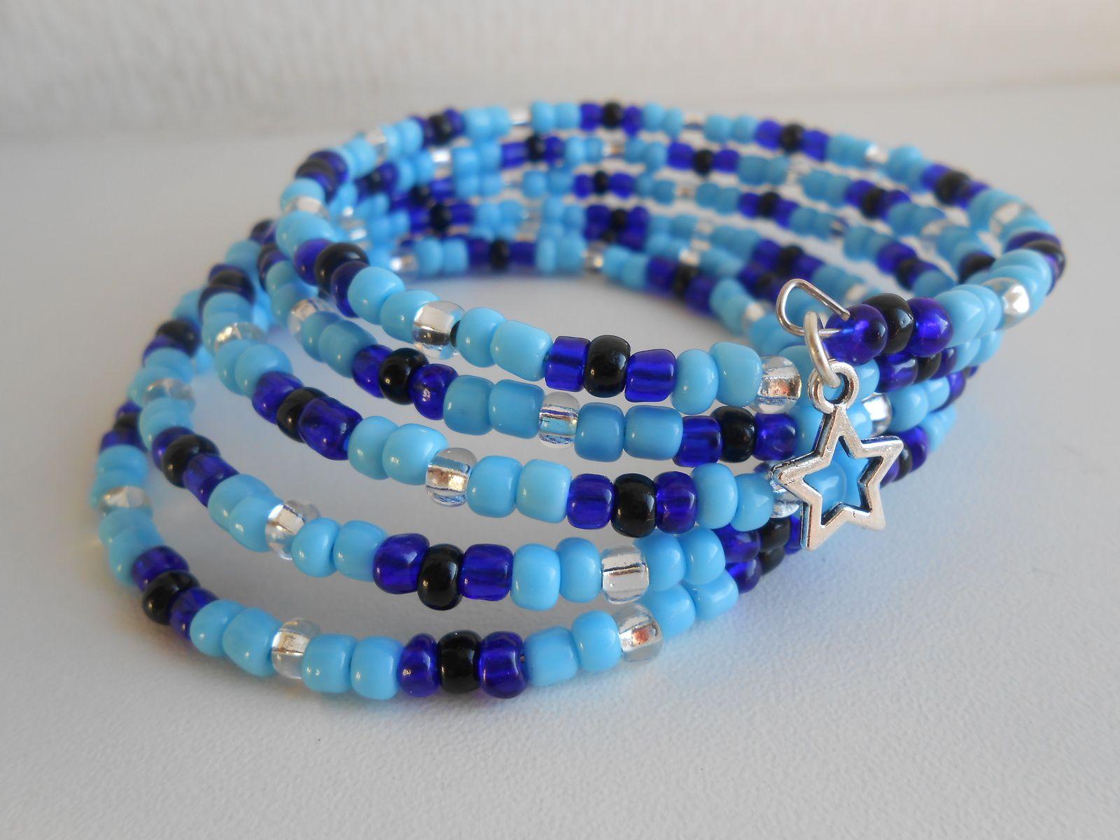 DIY: bracelet &quot&#x3B;océan&quot&#x3B; avec du fil mémoire