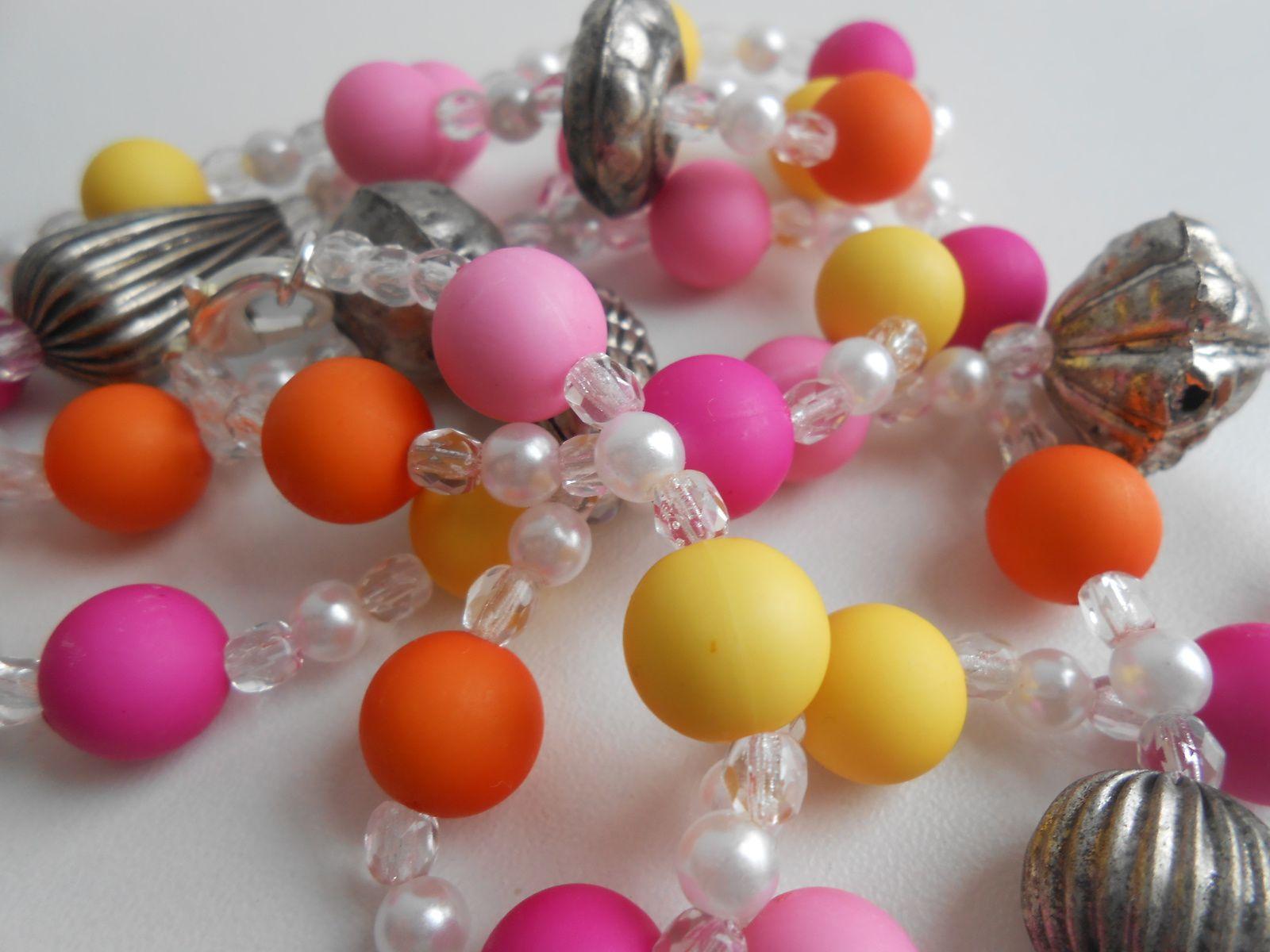 """Collier """"bubbles"""", multicolore perles swarovski, 7.85€"""