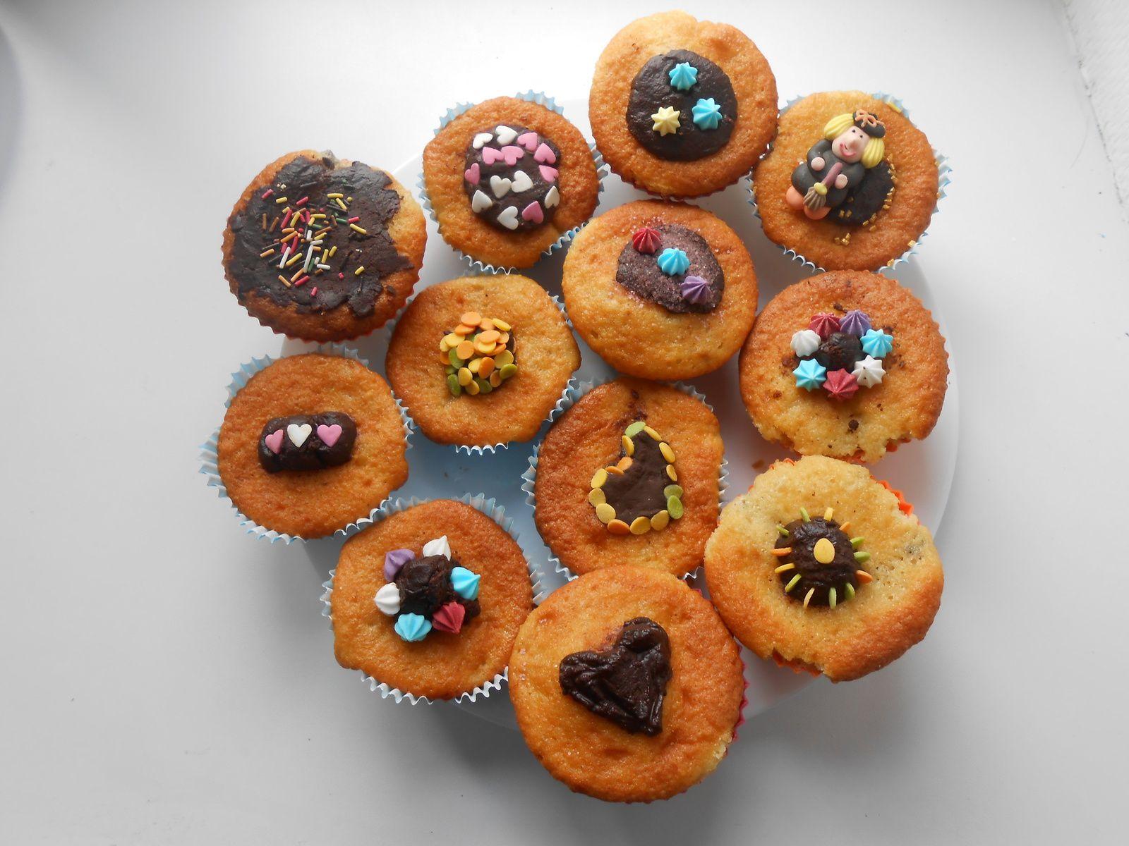 Cupcakes à la banane et au chocolat