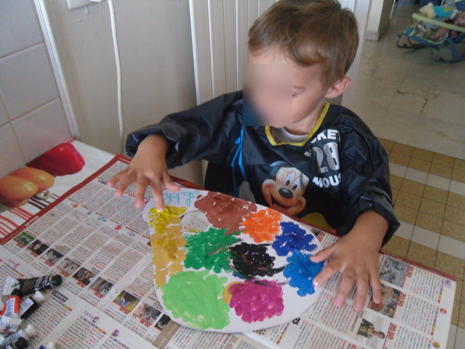 la palette de peinture fait part nos petits bouts