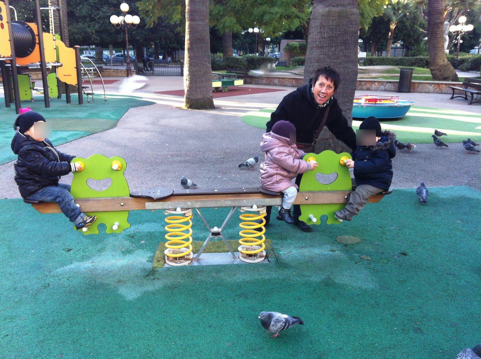 petit moment au parc.....