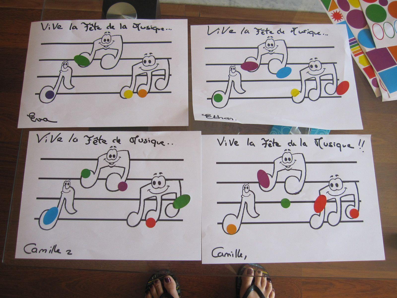 dessin facile : fête de la musique