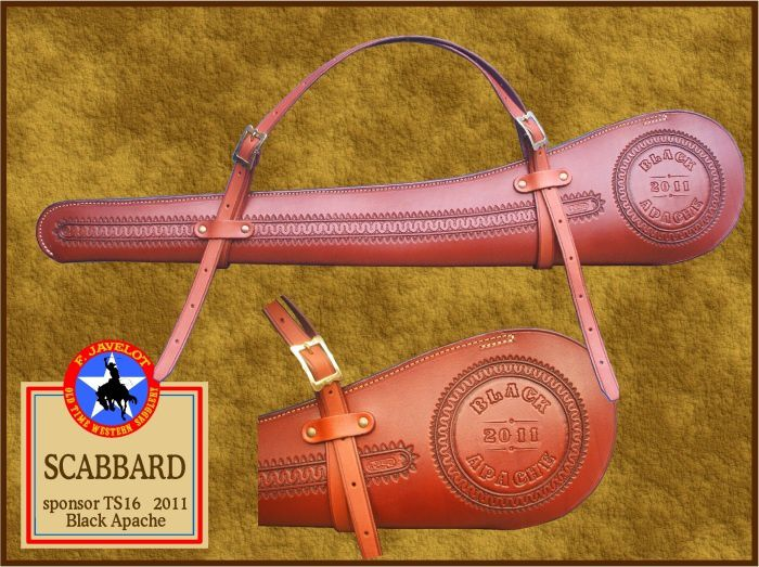 SCABBARD ou étuis de selle pour carabine ou fusil.