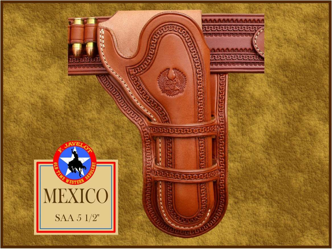 MEXICO, holster western mexican Loops  - F  JAVELOT- artisan