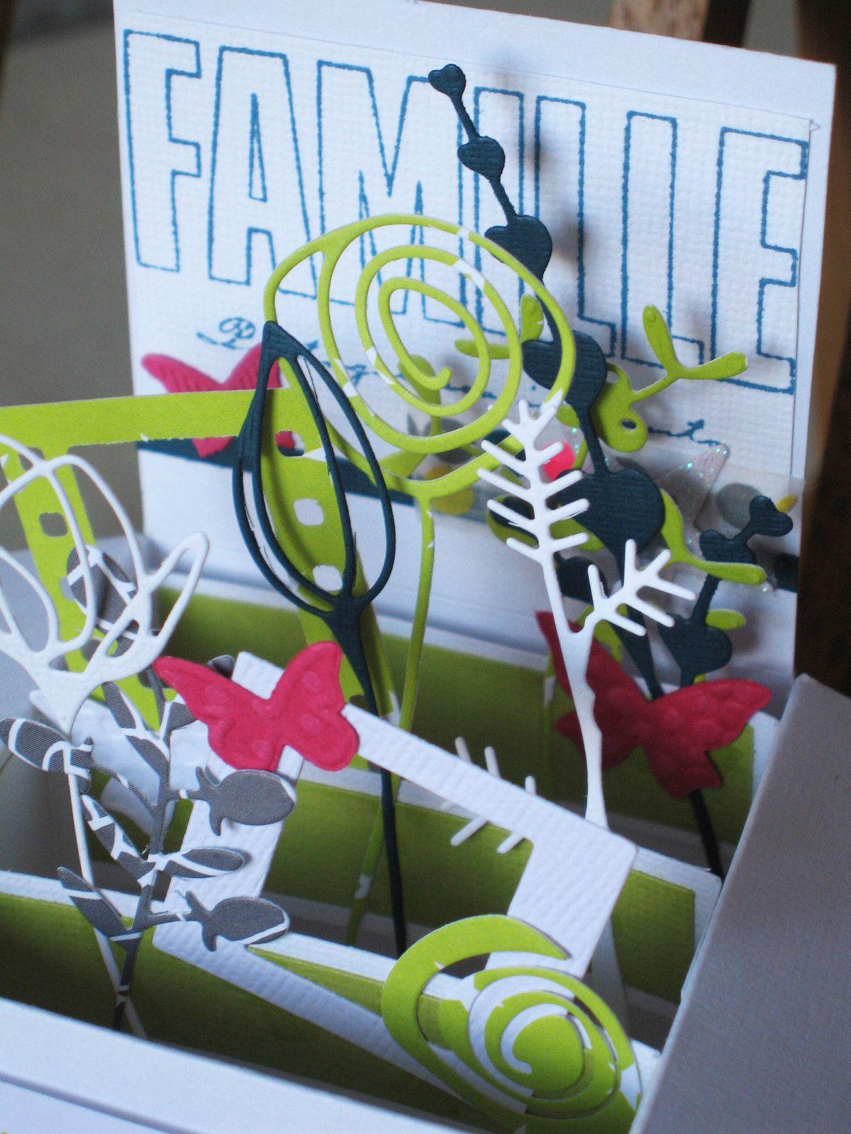 Atelier scrap en famille : carte-boite pop up