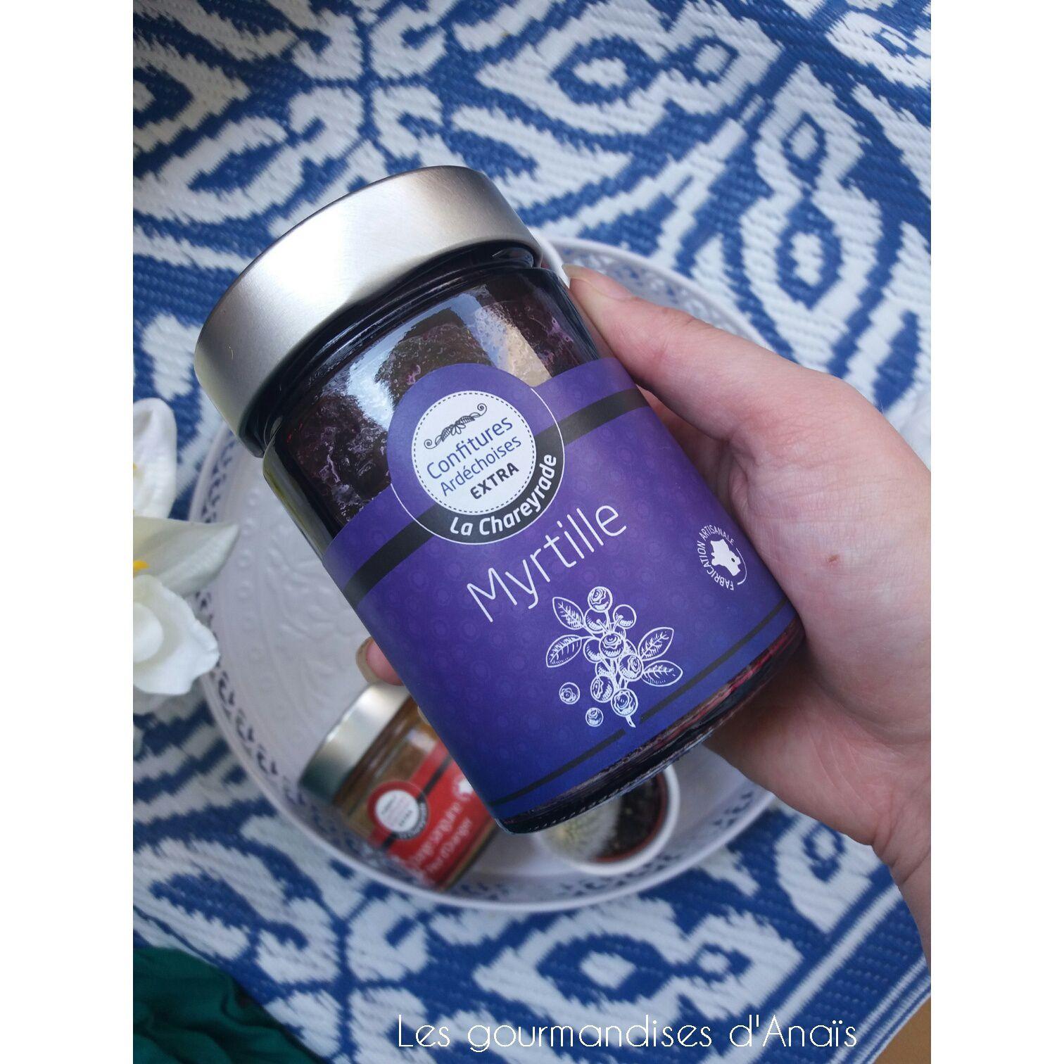 - Confiture de myrtilles sauvages (400 gr)