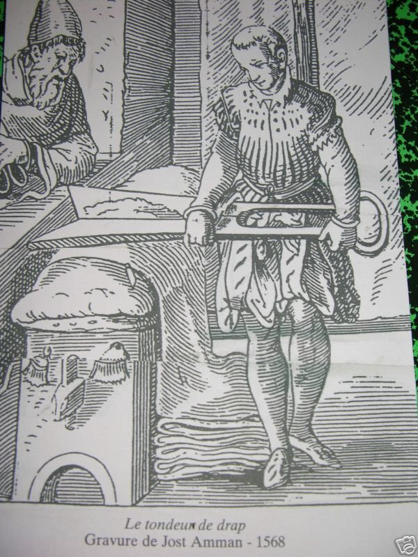 Tondeur de draps au XIVème siècle