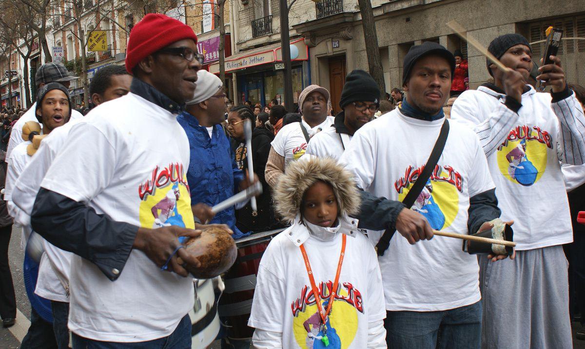 Carnaval Chinois 2010 Paris  cortège Antillais