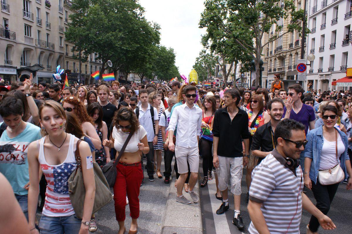 Gay pride : La marche des Fiertés 2012