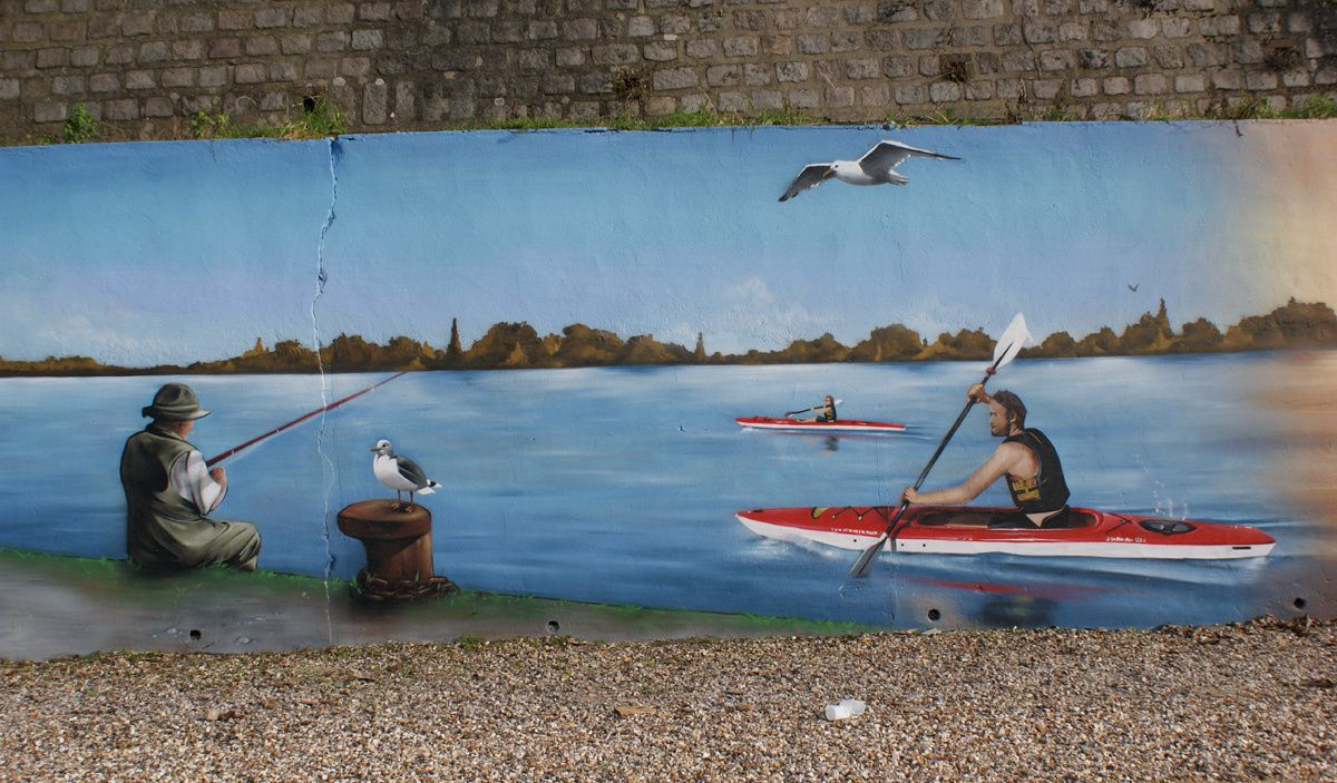 Street Art : Graffitis & Fresques Murales 76005 Amfreville la mi voie