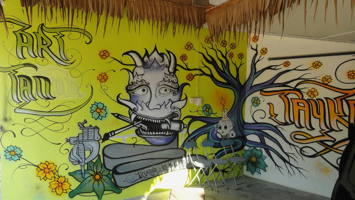 Street Art : Graffitis &amp&#x3B; Fresques Murales Koh Phangan (Thailande)