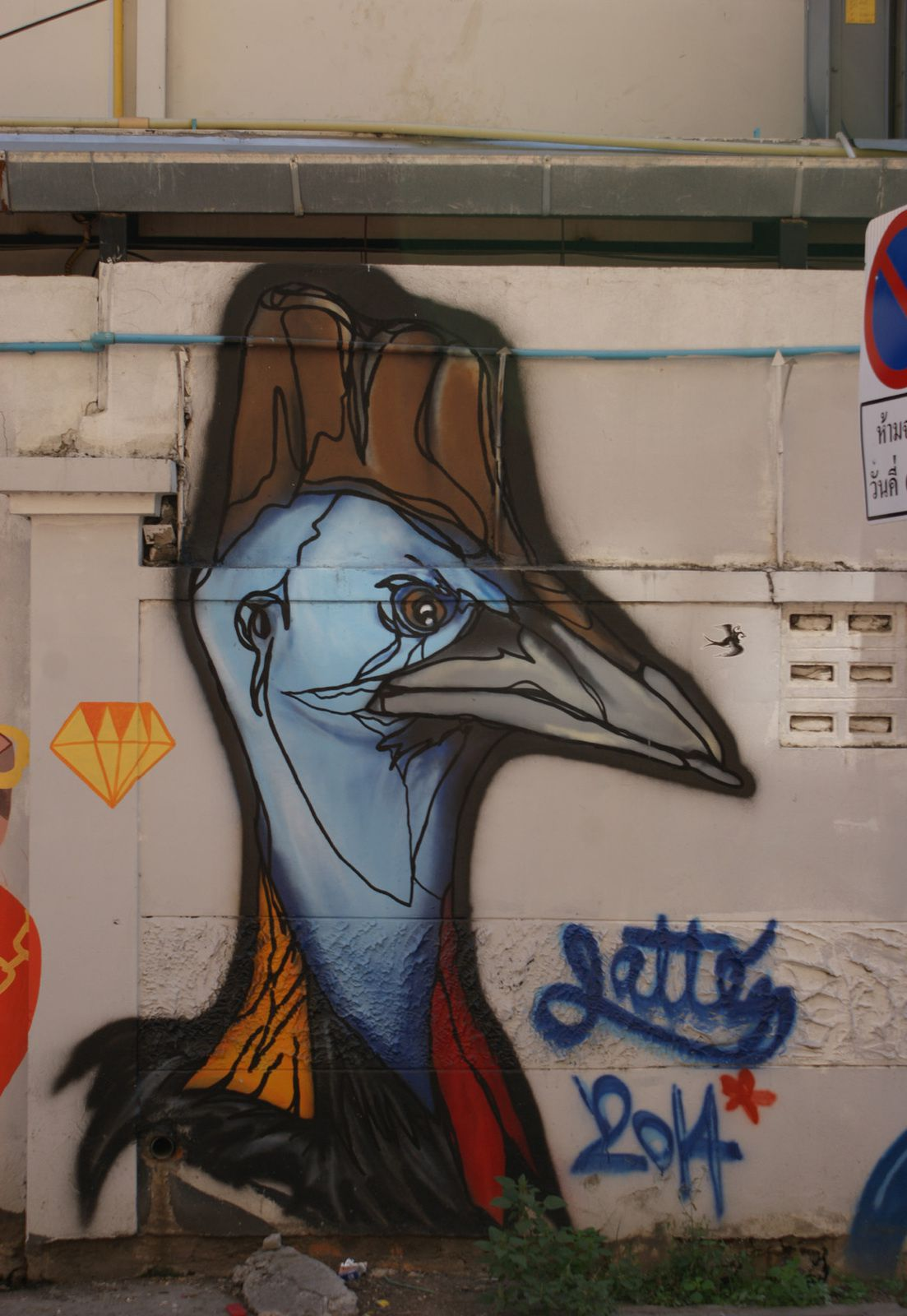 Street Art : Graffitis &amp&#x3B; Fresques Murales Chiang Mai (Thailande)