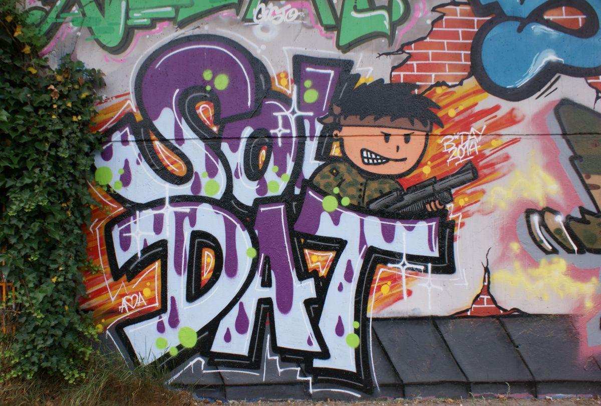 Street Art : Graffitis &amp&#x3B; Fresques Murales Saarbrucken (Allemagne)