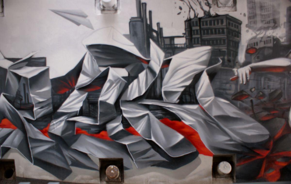 Street Art : Graffitis &amp&#x3B; Fresques Murales 14118 Caen