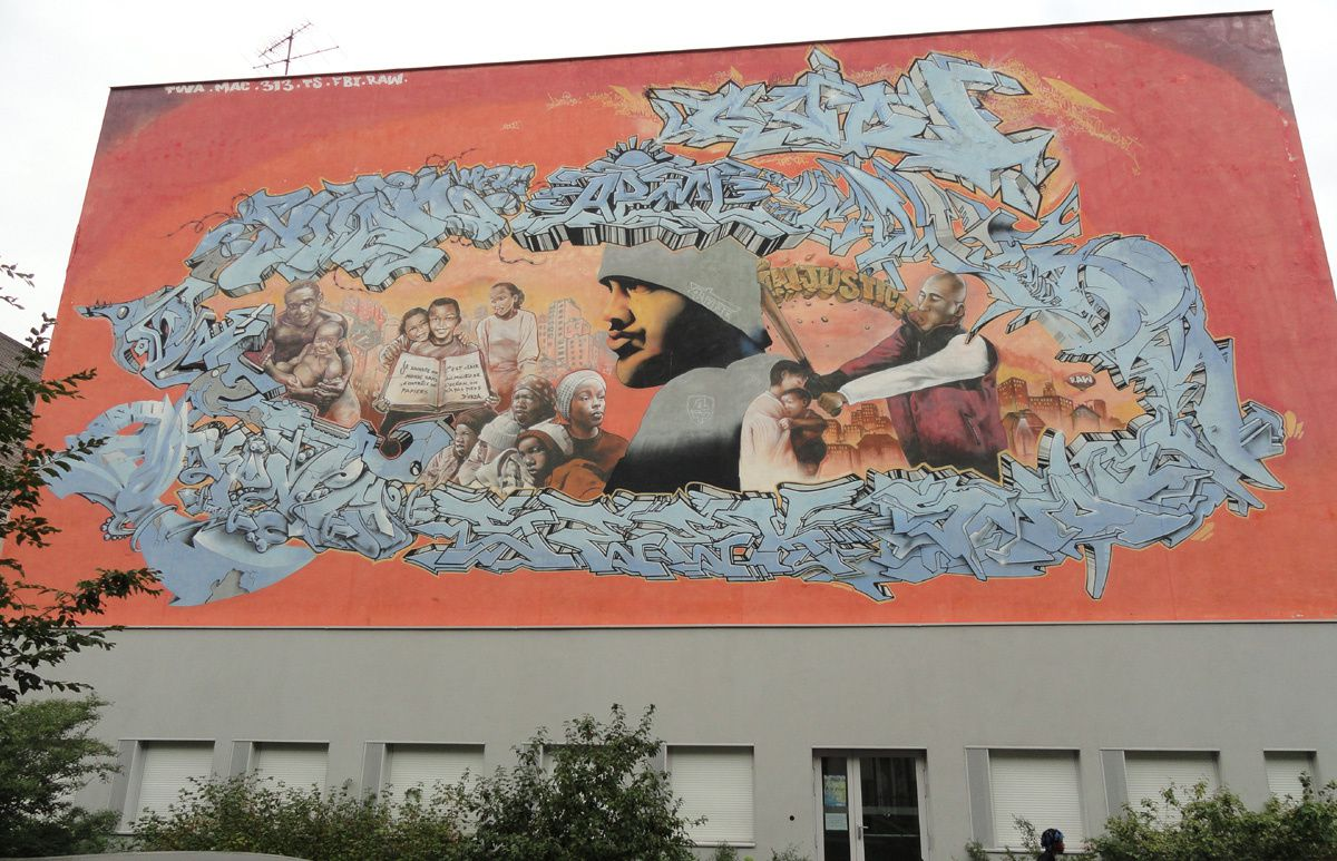 Street Art : Graffitis & Fresques Murales 93019 Ile Saint Denis