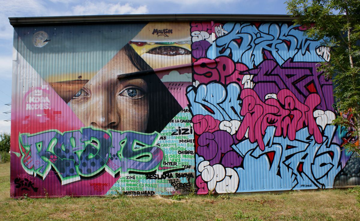 Street Art : Graffitis & Fresques Murales Sanem Luxembourg